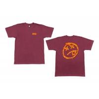 Tee shirt BSD Melting Acid Face maroon
