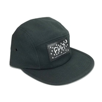 Casquette CULT Leather Patch black