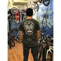 Tee shirt BMX AVENUE new Skull heather black