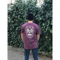 Tee shirt BMX AVENUE new Skull heather burgundy