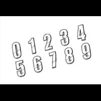 Numéro de plaque MAIKUN 8cm white
