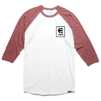 Tee shirt ETNIES Stack Box 3/4 red/white