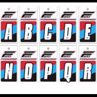 Lettre de plaque à numéros FORWARD (L'unité) white