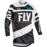 "Maillot FLY RACING F-16 white/black ""Junior"" 2018"