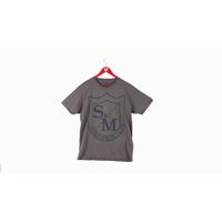 Tee shirt S&M Shield cool grey