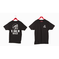 Tee shirt S&M Helmet Skull black