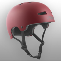 Casque TSG Evolution solid satin oxblood