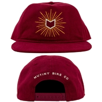 Casquette MUTINY Glow Unstruct 5 panels maroon