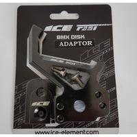 Adaptateur de frein à disque ICE FAST cnc + plaque 20/10mm cnc