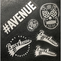 Stickers BMX AVENUE pack 6pc silver edition 2018 (New)