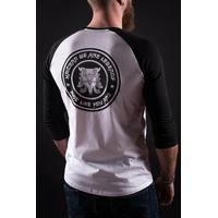 Tee shirt UNICORN Shisa Raglan black/white