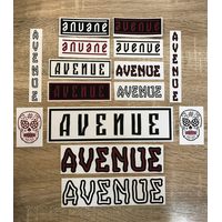 Stickers BMX AVENUE pack 15pc burgundy edition 2019 (New)