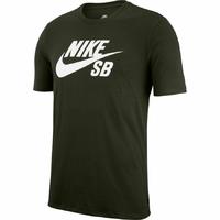 Tee shirt NIKE SB Logo Sequoia/white