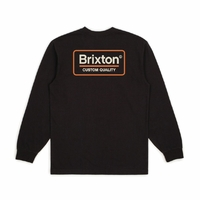 Tee shirt BRIXTON Palmer SV long sleeve washed black