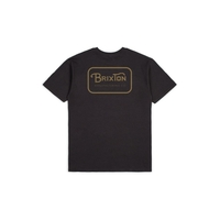 Tee shirt BRIXTON Grade washed black gold