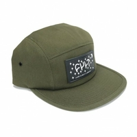 Casquette CULT Dream Leather Patch 5 panels olive