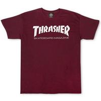Tee shirt TRASHER Skate mag maroon