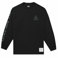Tee shirt HUF Bud Triangle long sleeve black