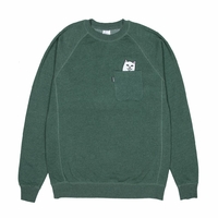 Sweat crew RIPNDIP Lord Nermal pocket green