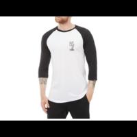 Tee shirt VANS Palm desert raglan white/black