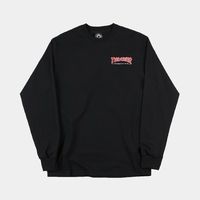 Sweat crew TRASHER Embroidered Outlined navy