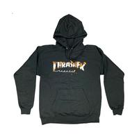 Sweat capuche TRASHER Intro Burner black
