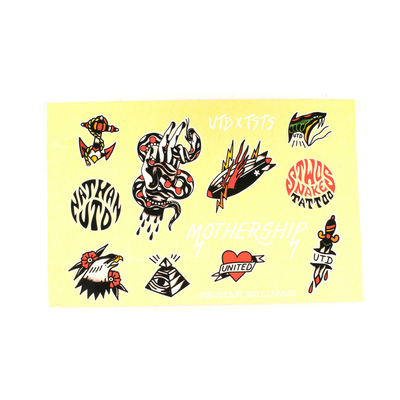 Stickers UNITED pack 2016 flash stickers sheet 13pc