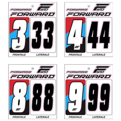 Numéro de plaque à numéros FORWARD X3 white