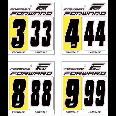 Numéro de plaque à numéros FORWARD X3 black