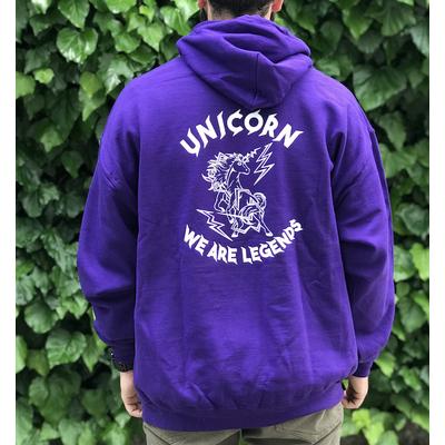 Sweat capuche UNICORN Classic purple