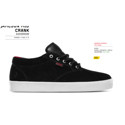 Shoes ETNIES Jameson Mid Crank black/white
