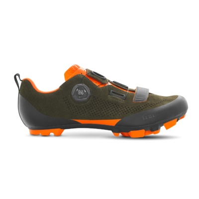 Shoes FIZIK Terra X5 Suede Military green Orange