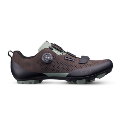 Shoes FIZIK Terra X5 suede Dark Brown Sage Green
