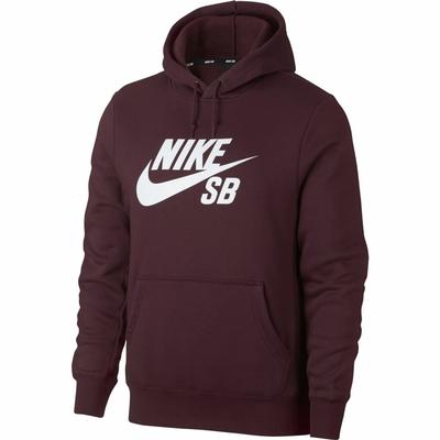 Sweat capuche NIKE SB Logo burgundy