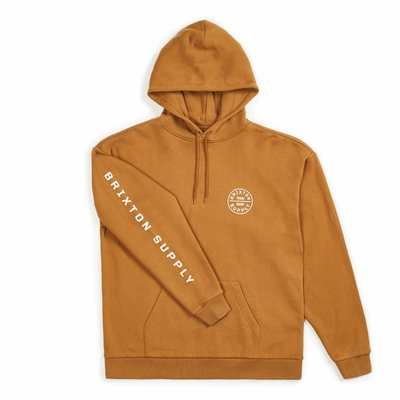 Sweat capuche BRIXTON Oath II Washed Copper