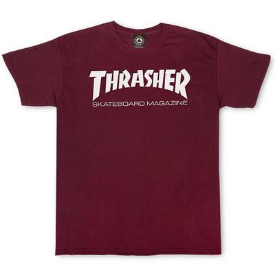 Tee shirt THRASHER Skate mag maroon