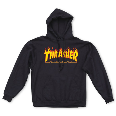 Sweat capuche THRASHER sweat flame hood black