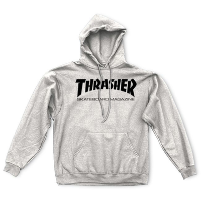 Sweat capuche THRASHER Skate mag grey