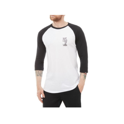 Tee shirt VANS Palm desert raglan white/black