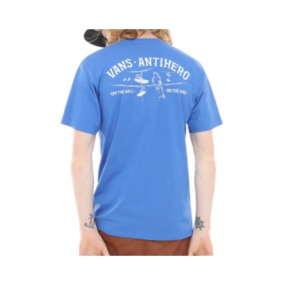 Tee shirt VANS X Antihero On the wire royal blue