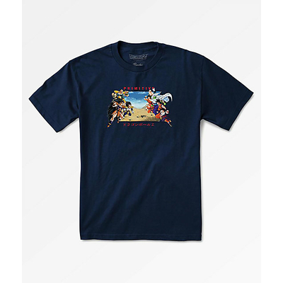 Tee shirt PRIMITIVE DBZ Battle navy