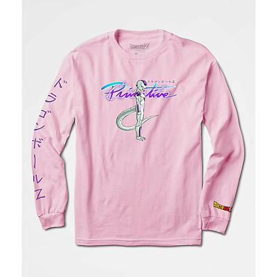 Tee shirt PRIMITIVE DBZ Nuevo Frieza LS Pink