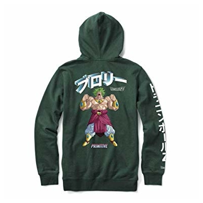 Sweat capuche PRIMITIVE DBZ Dirty P Broly dark green