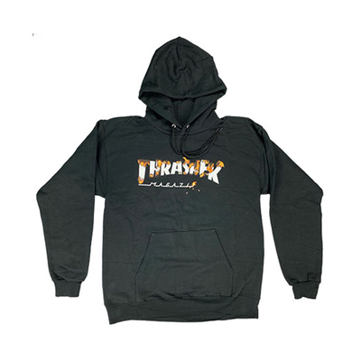 Sweat capuche TRASHER Intro Burner black