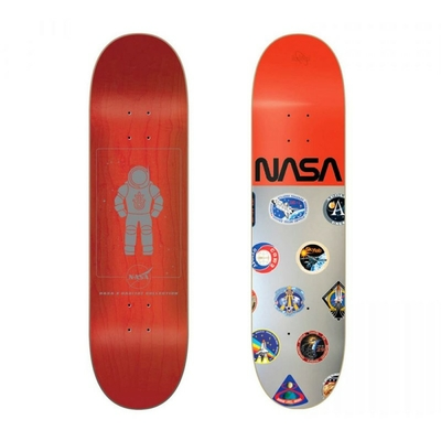 PLANCHE HABITAT NASA COLLECTION SILVER/RED 8.125