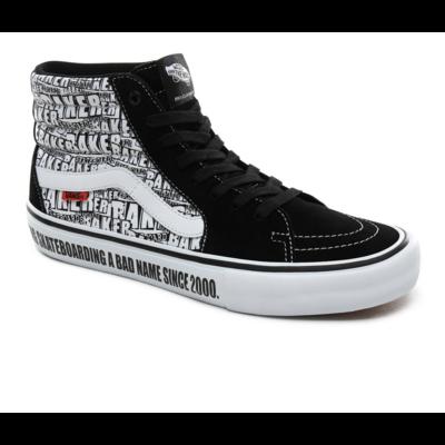 Shoes VANS SK8-HI Pro (Baker) black/white