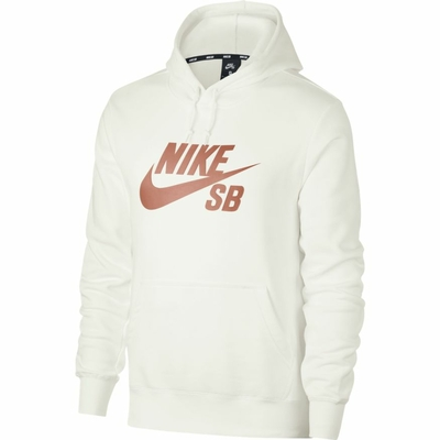 SWEAT CAPUCHE NIKE SB ICON WHITE ROSE GOLD