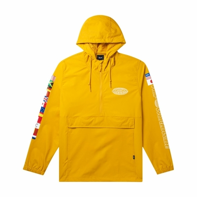 VESTE HUF WORLD TOUR ANORAK SAUTERNE