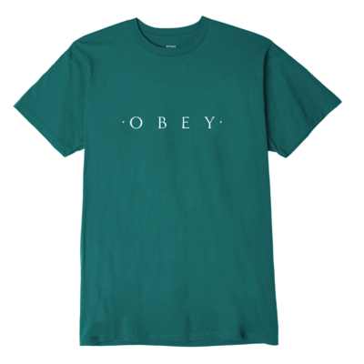 TEE SHIRT OBEY NOVEL FOREST GREEN