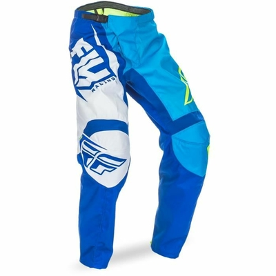 "Pantalon FLY RACING F-16 blue/yellow ""Junior"" 2017"